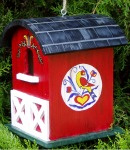 Birdhouses Touched by Fantasy- Country Barn with hex signs