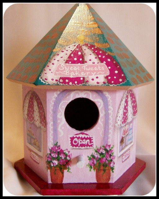 Sweet Tweets Bakery Birdhouse