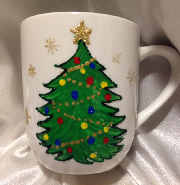 Braille- Merry Christmas with Christmas Tree mug