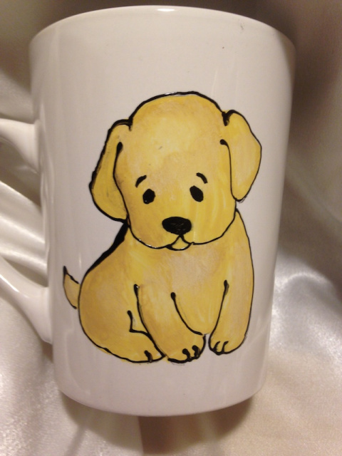 "Puppy Love- Yellow Lab/Golden Puppy- Mug ""The snuggle is real"""