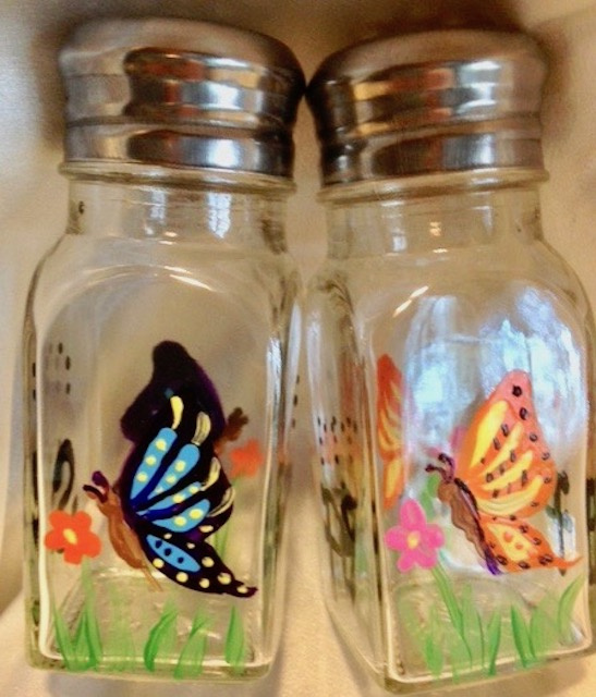 Braille Salt and Pepper Shakers - Butterflies