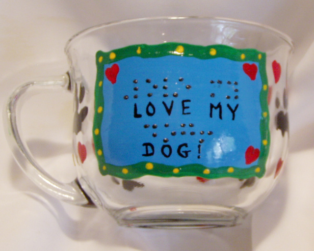 Love My Dog Mug- Braille