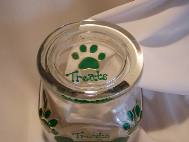 Treats! - Treat Jar for your furry best friend! with raised-dot braille