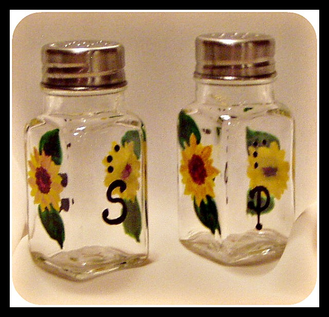 Braille Sunny Sunflowers- Salt & Pepper Shaker set