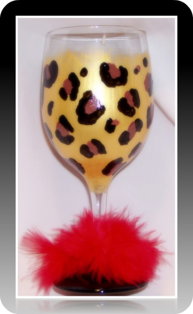 Leopard Diva- Wine glass- 20 oz.