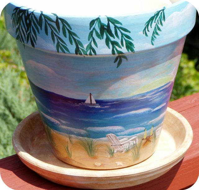 "Sunset Beach Fantasy- 8""w/saucer"