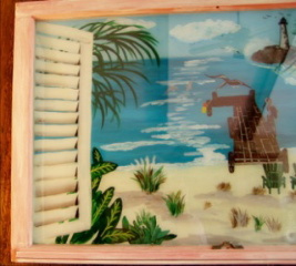 "A Day at the Beach Window- 23""X36"""
