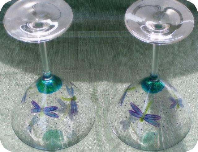 Dragonfly Martini Glass
