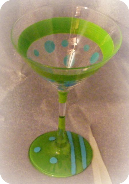 Tropical Sizzle- Blue- Martini Glass