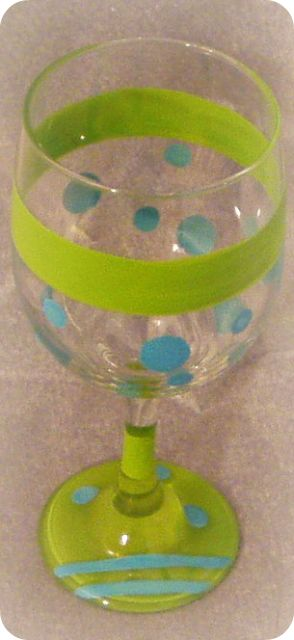 Tropical Sizzle- Blue- Wine Glass