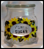 Braille- Sunflower Design Canister