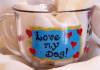Love my Dog- Coffee/Tea/Soup mug- Blue