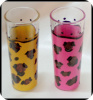 Leopard Shooter glasses (set of two)