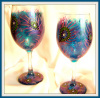 Peacock Feather Fantasy- 16 oz. Wine Glass