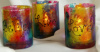 Tie-Dyed votive holders- Believe- Live- Love- Set of 3