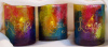 Tie-Dyed votive holders- Live-Love- Laugh- Set of 3